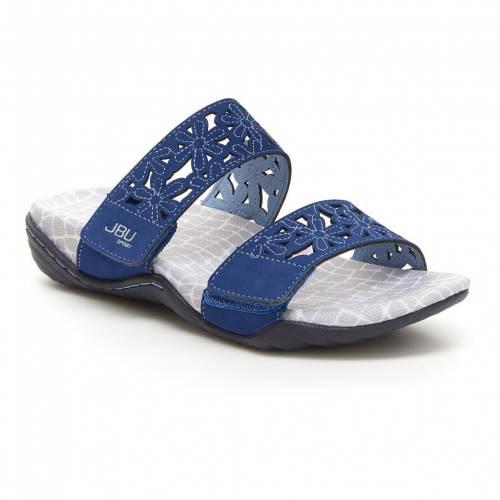ファッションブランド カジュアル ファッション サンダル JBU 紺色 NAVY WILDFLOWER 蔵 高い素材 ネイビー SLIDE SANDALS