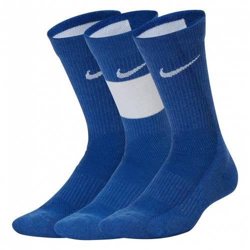 気質アップ ナイキ カジュアル ファッション NIKE 3個入 エリート バスケットボール クルー 靴下 青色 ブルー S 420 BLUE 3PACK SOCKS メーカー公式ショップ CREW ELITE BASKETBALL キッズ マタニティ ベビー 下