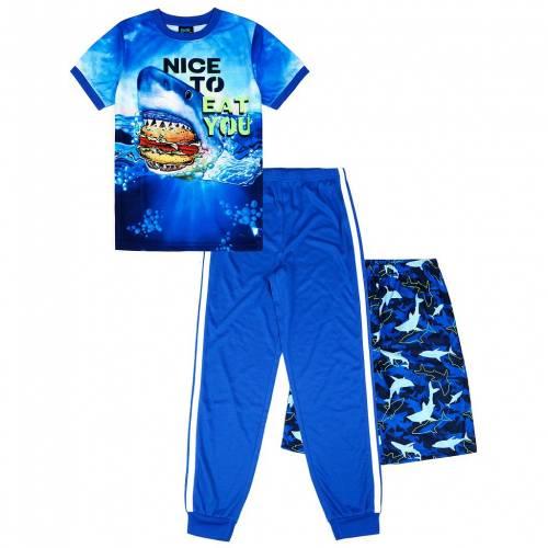 ファッションブランド カジュアル WEB限定 ファッション ショーツ ハーフパンツ 青色 ブルー シャーク TOP ジュニア SHORTS BLUE SHARK S PAJAMA PANTS SET JELLIFISH 420 キッズ 最新アイテム