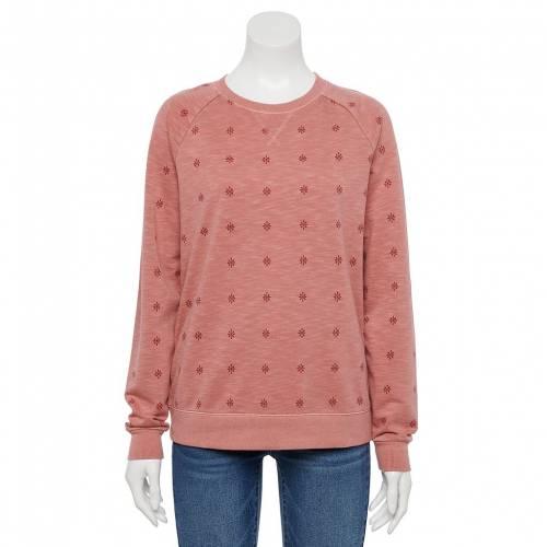 <title>ファッションブランド カジュアル ファッション SONOMA GOODS FOR LIFE スウェットシャツ トレーナー ピンク PINK EVERYDAY SWEATSHIRT GEO インナー 下着 ナイトウエア レディース 激安卸販売新品</title>