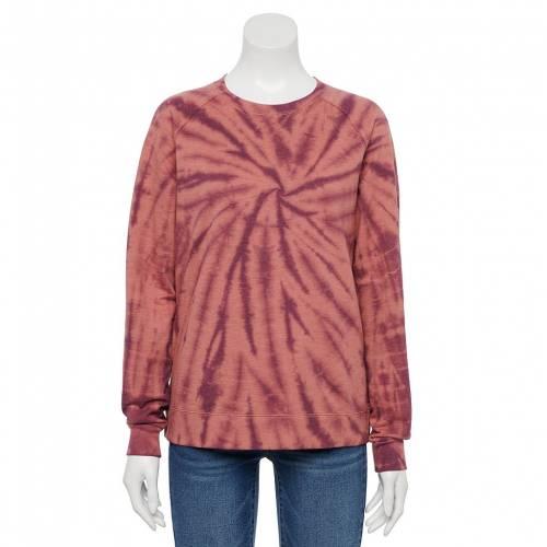 <title>ファッションブランド カジュアル ファッション SONOMA GOODS FOR LIFE スウェットシャツ スーパーセール期間限定 トレーナー ピンク PINK EVERYDAY SWEATSHIRT SPIRAL DYE インナー 下着 ナイトウエア レディース</title>