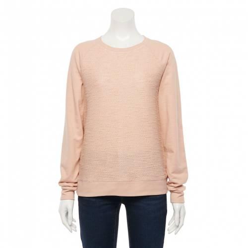 <title>ファッションブランド 即出荷 カジュアル ファッション SONOMA GOODS FOR LIFE スウェットシャツ トレーナー ピンク テクスチャー PINK EVERYDAY SWEATSHIRT TEXTURE インナー 下着 ナイトウエア レディース</title>