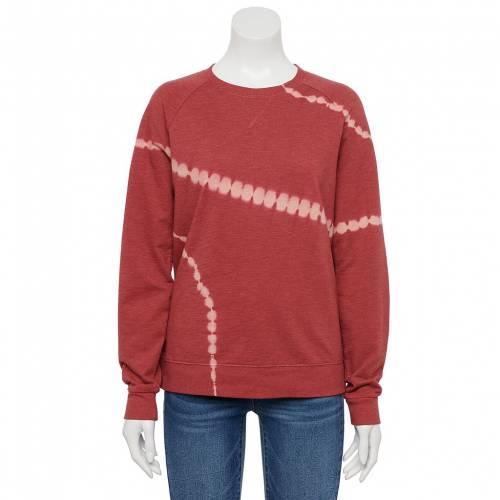 <title>ファッションブランド カジュアル ファッション SONOMA GOODS FOR LIFE スウェットシャツ トレーナー 返品送料無料 赤 レッド RED EVERYDAY SWEATSHIRT SWEET DYE インナー 下着 ナイトウエア レディース</title>