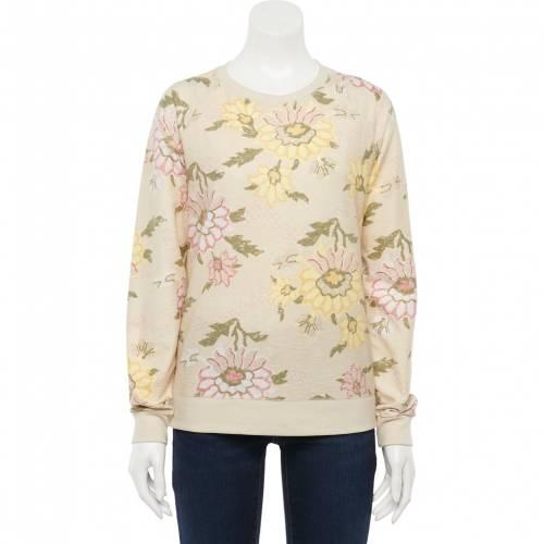 <title>ファッションブランド カジュアル ファッション SONOMA GOODS FOR LIFE スウェットシャツ トレーナー 黄色 イエロー セール特価 YELLOW EVERYDAY SWEATSHIRT FLORAL インナー 下着 ナイトウエア レディース</title>