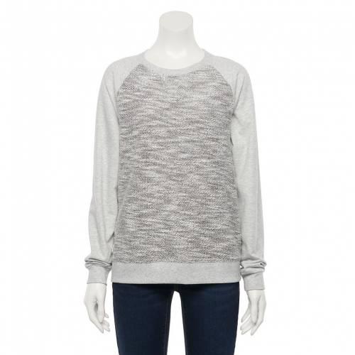 <title>ファッションブランド カジュアル ファッション SONOMA 40%OFFの激安セール GOODS FOR LIFE スウェットシャツ トレーナー 灰色 グレー グレイ テクスチャー GRAY EVERYDAY SWEATSHIRT TEXTURE インナー 下着 ナイトウエア レディース</title>