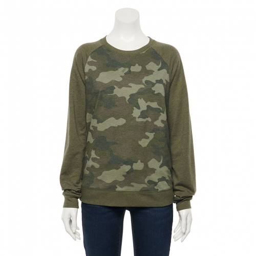 <title>ファッションブランド カジュアル ファッション SONOMA GOODS FOR LIFE スウェットシャツ トレーナー 緑 グリーン カモ柄 GREEN EVERYDAY SWEATSHIRT CAMO インナー 下着 ナイトウエア レディース 18%OFF</title>