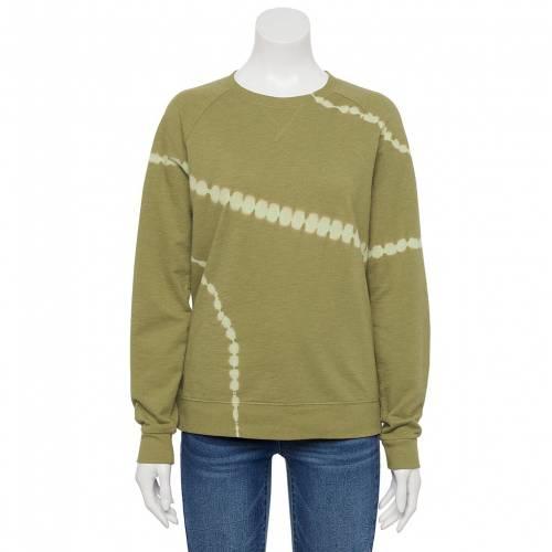 <title>ファッションブランド カジュアル ファッション SONOMA GOODS FOR LIFE スウェットシャツ トレーナー 緑 グリーン GREEN EVERYDAY SWEATSHIRT オリジナル DYE インナー 下着 ナイトウエア レディース</title>