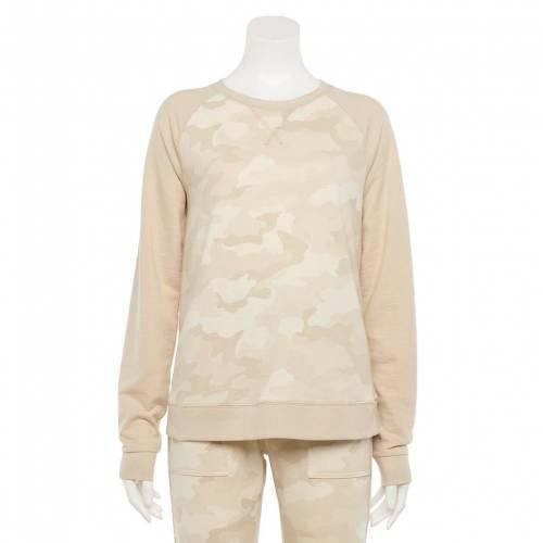 <title>ファッションブランド カジュアル ファッション SONOMA GOODS 誕生日/お祝い FOR LIFE スウェットシャツ トレーナー アイボリー カモ柄 EVERYDAY SWEATSHIRT IVORY CAMO インナー 下着 ナイトウエア レディース</title>