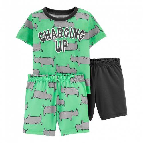 買収 ファッションブランド カジュアル ファッション カーターズ ベビー 赤ちゃん用 CARTER'S RHINO 爆買いセール ジュニア キッズ SET 3PIECE PAJAMA TODDLER