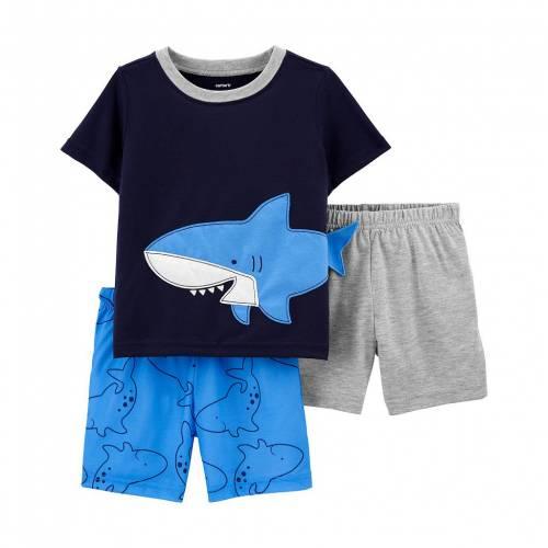 ファッションブランド カジュアル ファッション カーターズ ベビー 赤ちゃん用 シャーク 2020 CARTER'S 3PIECE SHARK TODDLER ジュニア 売店 キッズ PAJAMA SET