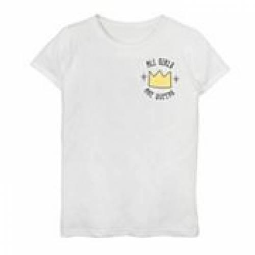 【楽天カード分割】 LICENSED CHARACTER キャラクター グラフィック Tシャツ 白色 ホワイト 【 LICENSED CHARACTER ALL S ARE QUEENS CROWN WITH SPARKLE DOODLE GRAPHIC TEE WHITE 】 キッズ ベビー マタニティ トップス Tシャツ, ミハラグン 536d55a4