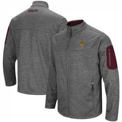 COLOSSEUM チャコール アリゾナ スケートボード 【 STATE COLOSSEUM HEATHERED CHARCOAL ARIZONA SUN DEVILS ANCHOR FULLZIP JACKET ASU CHARCO 】 メンズファッション コート ジャケット