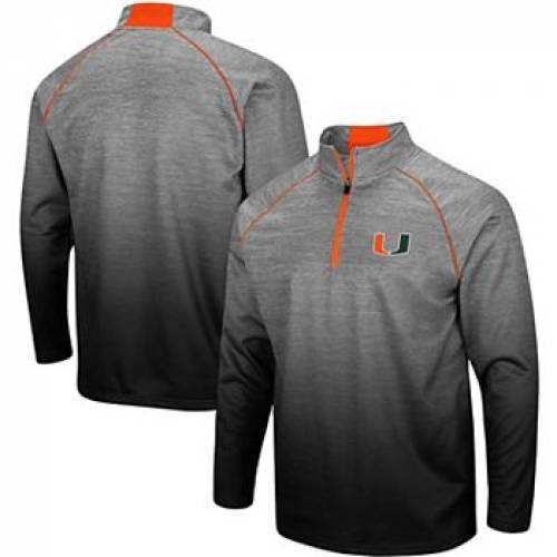 COLOSSEUM 灰色 グレー グレイ マイアミ グレ 【 GRAY COLOSSEUM HEATHERED MIAMI HURRICANES SITWELL SUBLIMATED QUARTERZIP PULLOVER JACKET MIA GREY 】 メンズファッション コート ジャケット