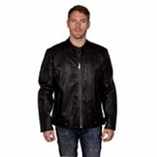 XRAY 黒 ブラック 【 BLACK XRAY SLIMFIT FAUXLEATHER MOTO JACKET 】 メンズファッション コート ジャケット