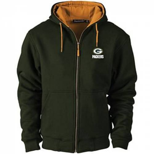 UNBRANDED 緑 グリーン パッカーズ 【 GREEN UNBRANDED BAY PACKERS CRAFTSMAN THERMAL LINED FULLZIP HOODIE PKR 】 メンズファッション コート ジャケット