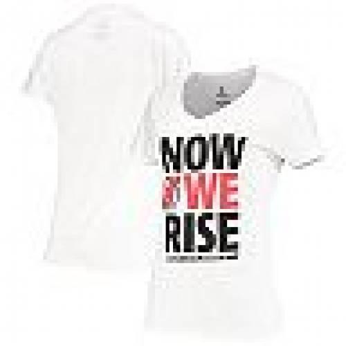 FANATICS 白 ホワイト ジャージ ライズ Tシャツ 【 WHITE FANATICS BRANDED NEW JERSEY DEVILS WE RISE TSHIRT NHL 】 レディースファッション トップス Tシャツ カットソー