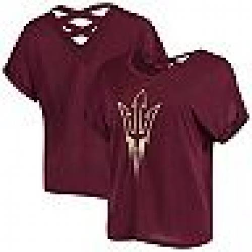 COLOSSEUM アリゾナ スケートボード Tシャツ 赤 レッド 【 STATE RED COLOSSEUM MAROON ARIZONA SUN DEVILS LUCY STRAPPY TSHIRT ASU 】 レディースファッション トップス Tシャツ カットソー