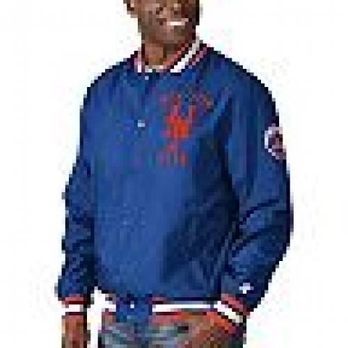 スターター STARTER メッツ 青 ブルー 【 BLUE STARTER ROYAL NEW YORK METS THE JETT III FULLSNAP JACKET MET 】 メンズファッション コート ジャケット