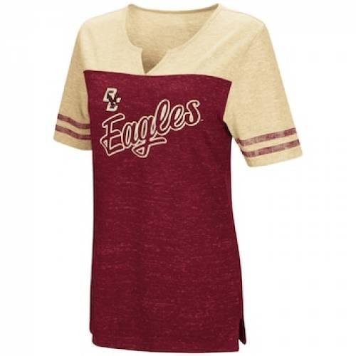ボストン カレッジ イーグルス Tシャツ 赤 レッド 【 RED BOSTON COLLEGE EAGLES ON A BREAK TEE BOS 】 レディースファッション トップス Tシャツ カットソー