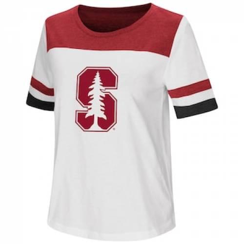 スタンフォード 赤 カーディナル Tシャツ 白 ホワイト 【 WHITE STANFORD CARDINAL VARSITY TEE STF 】 レディースファッション トップス Tシャツ カットソー