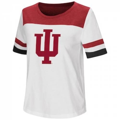 インディアナ Tシャツ 白 ホワイト 【 WHITE INDIANA HOOSIERS VARSITY TEE IND 】 レディースファッション トップス Tシャツ カットソー