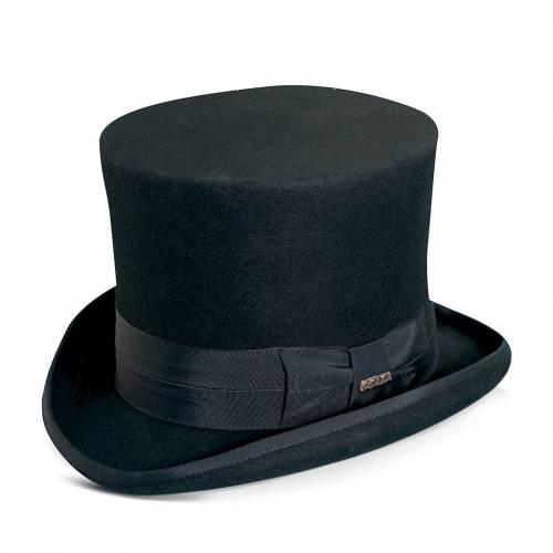 ファッションブランド カジュアル ファッション スカラ SCALA 注目ブランド 黒色 完全送料無料 ブラック WOOL キャップ FELT BLACK TOP HAT バッグ 帽子 メンズキャップ
