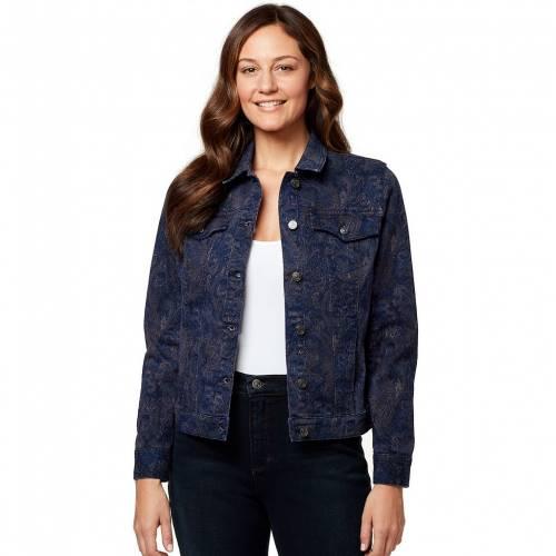 税込 ファッションブランド カジュアル ファッション ジャケット パーカー ベスト GLORIA VANDERBILT ヴァンダービルト 売買 ネイビー PAISLEY JEAN AMANDA MARINE NAVY 紺色 JACKET