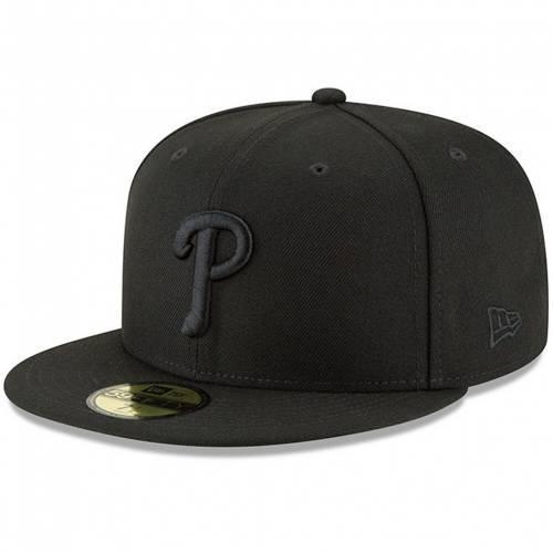 ファッションブランド カジュアル ファッション NEW ERA エラ 黒色 ブラック フィラデルフィア フィリーズ ロゴ 超目玉 BLACK HAT PRIMARY LOGO ニューエラ 新作 PHL FITTED BASIC 59FIFTY メンズ