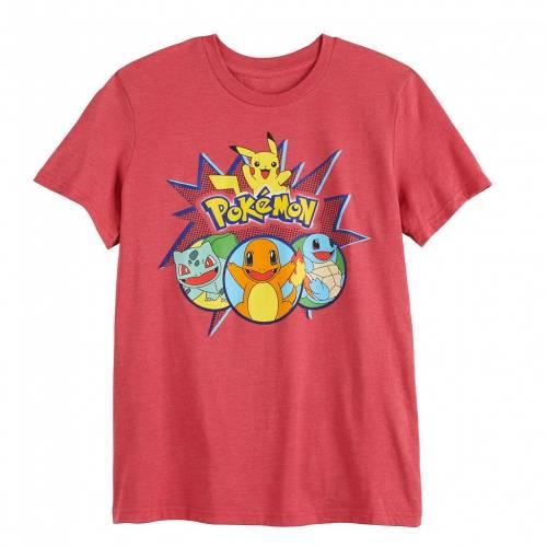キャラクター TEE HUSKY 【 レッド TEAM チーム LICENSED CHARACTER LICENSED RED Tシャツ トップス 】 ベビー 赤 マタニティ Tシャツ POKEMON キッズ KANTO CHARACTER