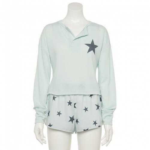 ファッションブランド カジュアル ファッション スリーブ ヘンリー ショーツ ハーフパンツ 青色 ブルー お金を節約 長袖 ジュニア BLUE SET STAR SLEEVE 大特価 PAJAMA SHORTS HENLEY キッズ GRAYSON THREADS TOP