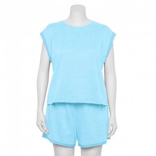 ファッションブランド カジュアル ファッション オンライン限定商品 ノンスリーブ ショーツ 公式ストア ハーフパンツ 青色 ブルー ジュニア キッズ SO PLUS SHORTS TERRY LIGHT SET PAJAMA SLEEVELESS FRENCH SIZE BLUE TOP