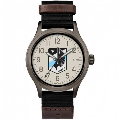 保証 ファッションブランド カジュアル ファッション ウォッチ ストアー タイメックス TIMEX ミネソタ ユナイテッド 時計 BLACK WATCH CLUTCH 黒色 MFC ブラック 腕時計 メンズ腕時計