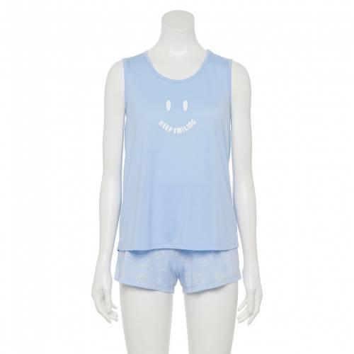 ファッションブランド カジュアル ファッション タンクトップ ショーツ ハーフパンツ 青色 激安格安割引情報満載 今だけスーパーセール限定 ブルー ジュニア SO キッズ BLUE HAPPY PAJAMA SHORTS SET TANK