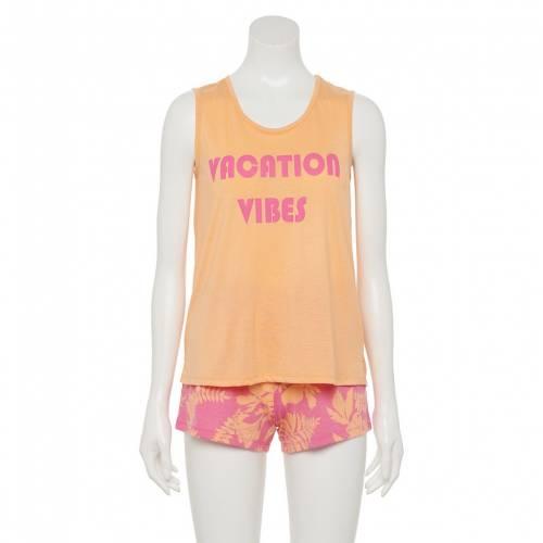 ファッションブランド カジュアル ファッション タンクトップ ショーツ ハーフパンツ ピンク ジュニア SO 新作からSALEアイテム等お得な商品満載 キッズ PINK SET FLORAL TANK 人気 おすすめ PAJAMA SHORTS