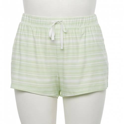 ファッションブランド カジュアル ファッション 商品追加値下げ在庫復活 ショーツ 訳あり品送料無料 ハーフパンツ 緑 グリーン ストライプ ジュニア GREEN SIZE PLUS STRIPE SHORTS キッズ PAJAMA SO