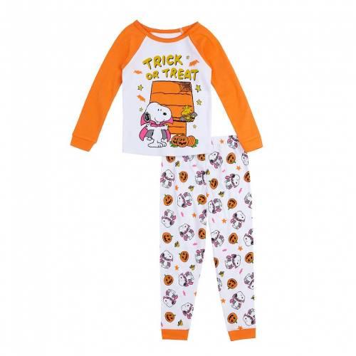ファッションブランド カジュアル ファッション キャラクター ベビー 赤ちゃん用 橙 オレンジ TREAT#34; ジュニア 情熱セール キッズ PEANUTS 贈答品 SET SNOOPY ORANGE TRICK TODDLER PAJAMA LICENSED CHARACTER OR