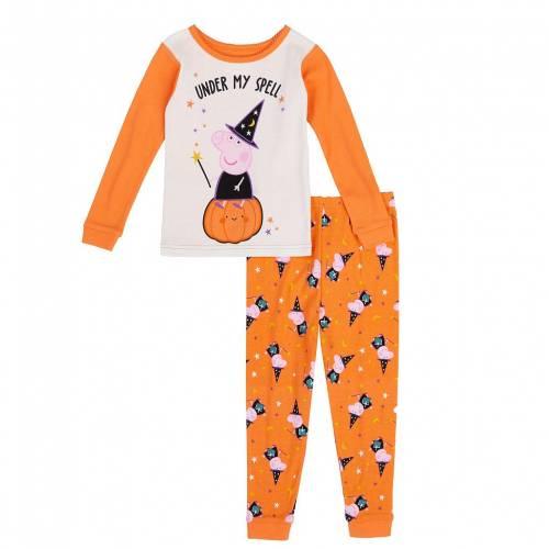 ファッションブランド カジュアル ファッション キャラクター ベビー 赤ちゃん用 橙 オレンジ ジュニア 数量限定アウトレット最安価格 開店記念セール キッズ ORANGE PAJAMA CHARACTER TODDLER LICENSED SET HALLOWEEN PEPPA PIG