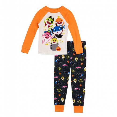 ファッションブランド カジュアル ファッション キャラクター ベビー 赤ちゃん用 シャーク 橙 オレンジ 新品未使用正規品 ジュニア HALLOWEEN ORANGE PAJAMA CHARACTER SHARK SET セットアップ LICENSED キッズ TODDLER