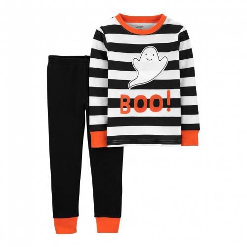 ファッションブランド カジュアル 商店 ファッション カーターズ ベビー 赤ちゃん用 黒色 ブラック CARTER'S BOO#34; PAJAMA BLACK HALLOWEEN STRIPED キッズ 2 1年保証 PIECE SET TODDLER ジュニア