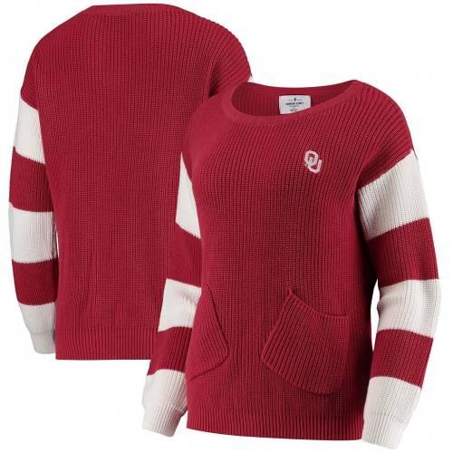 ファッションブランド カジュアル 激安通販専門店 ファッション UNBRANDED クリムゾン オクラホマ スーナーズ トレーナー 赤 レッド WHITNEY OKL トップス セーター PULLOVER CRIMSON ニット RED SWEATER 店舗 レディースファッション