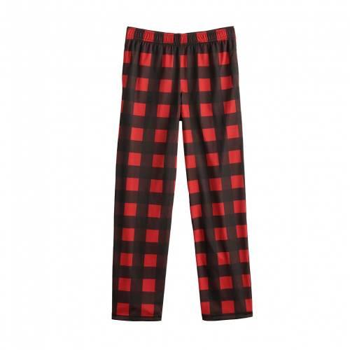ファッションブランド カジュアル ファッション 待望 赤 レッド ジュニア キッズ RED SONOMA GOODS PANTS SLEEP 420 IN FOR HUSKY S おすすめ特集 CHECK REGULAR LIFE
