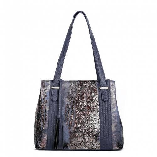 ファッションブランド カジュアル ファッション アクセサリー KARLA HANSON バッグ NAVY 紺色 ネイビー RFIDBLOCKING BAG 激安特価品 <セール&特集> EVA TOTE
