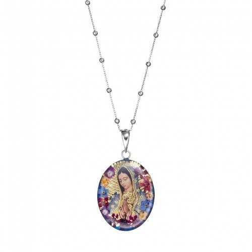 ファッションブランド お気にいる カジュアル ファッション アクセサリー 全品送料無料 銀色 シルバー ネックレス SILVER EVERLASTING FLOWERS MULTI LARGE STERLING PRESSED MARY PENDANT NECKLACE JEWELRY FLOWER NONE