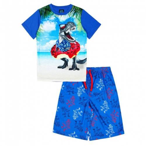 ファッションブランド カジュアル ファッション ショーツ ハーフパンツ 価格交渉OK送料無料 青色 ブルー ジュニア キッズ 公式 JELLIFISH PAJAMA S BLUE TOP SET SHORTS 416 DINO