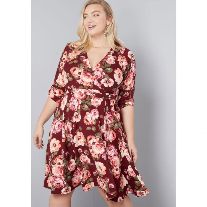 MODCLOTH ラップ ドレス レディースファッション ワンピース 【 Say Yes To Timeless Wrap Dress 】 Wine