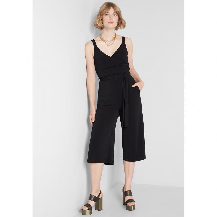 MODCLOTH レディースファッション オールインワン サロペット 【 Elegant Everywhere Cropped Jumpsuit 】 Black