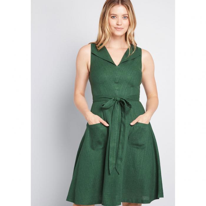 MODCLOTH ドレス レディースファッション 【 Retro Blend Midi Dress 】 Green