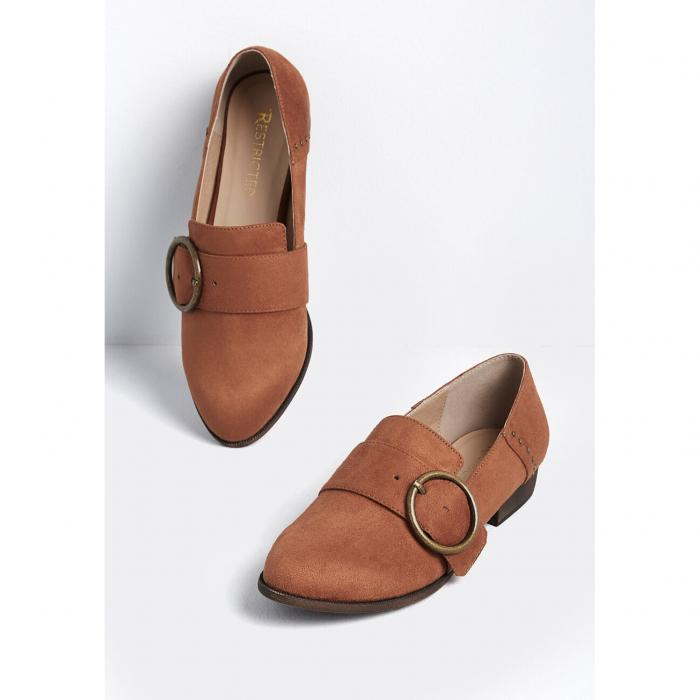 RESTRICTED 【 First Place Buckled Loafer 】 Rust