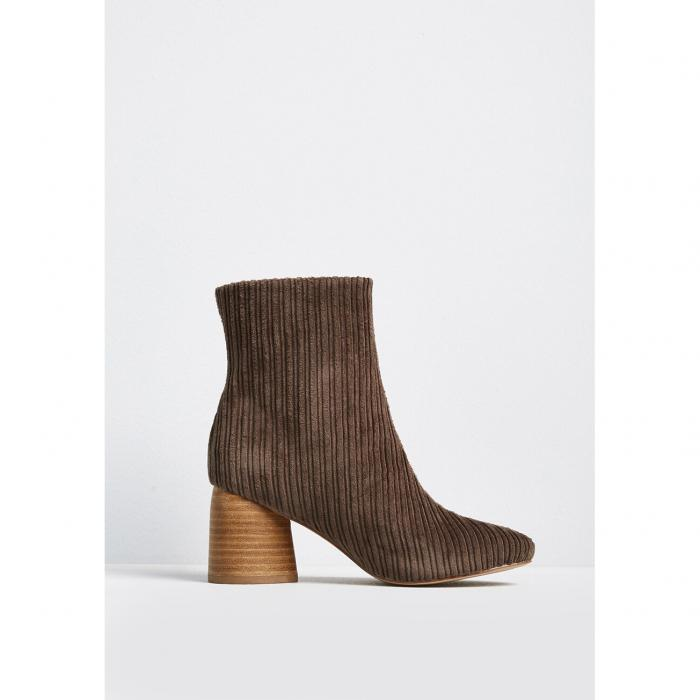 SBICCA コーデュロイ ブーツ 【 SBICCA FINAL WARMING CORDUROY ANKLE BOOT TAUPE 】