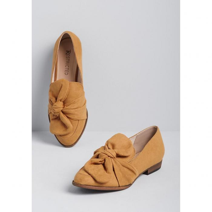 NO_BRAND_SHOWN 【 Fab Intentions Faux-suede Loafer 】 Camel